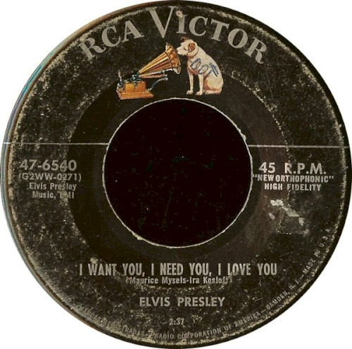 Album Poster | Elvis Presley | I Want You, I Need You, I Love You